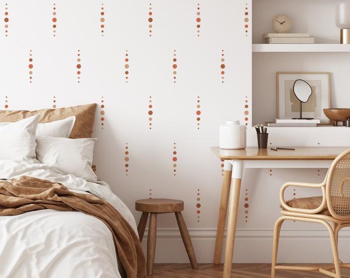 Boho Dot Wall Decals - Removable Wall Stickers, Minimalist Geometric Wall Art, Boho Nursery Decor, Kids Room Decor