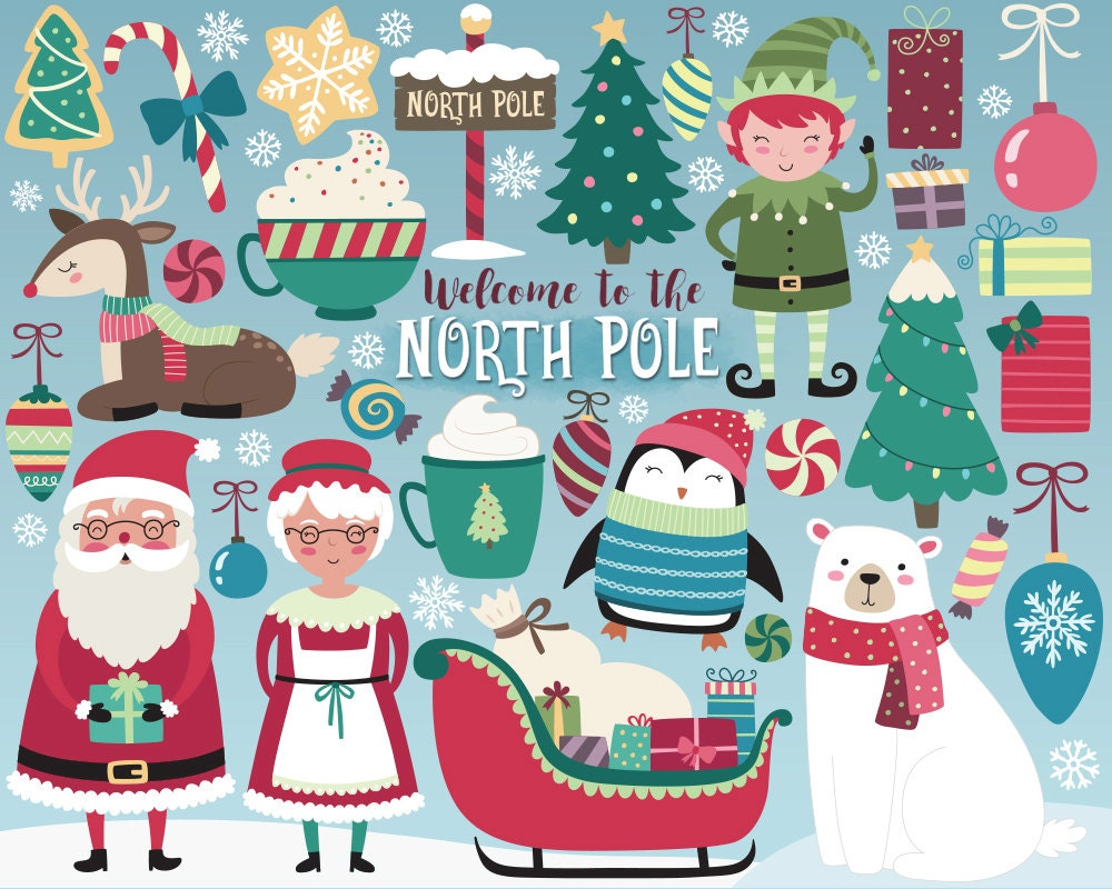 Christmas Clipart - North Pole Clipart, Holiday Clipart, Christmas ...