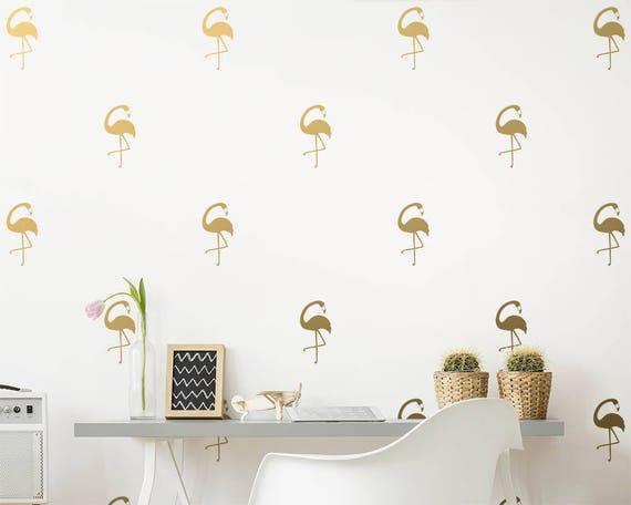 Flamingo Wall Decals - Flamingo Decor, Wall Decor, Wall Decals, Gift for Her, Wall Art, Flamingo Wall Stickers, Tropical Decor, Vinyl Decals