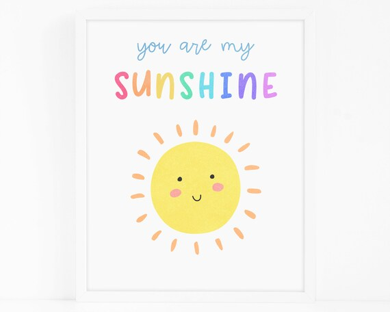 Sunshine Art Print - Nursery Art, Watercolor Wall Art, Wall Decor, Kids Art Print, Kids Bedroom Decor