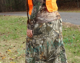 429ee57ab5fd Long camo skirt transitions into a Below-the-Knee Camo Skirt. Mossy oak