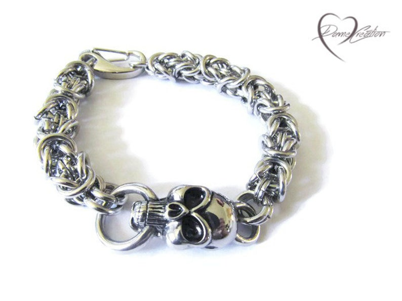 Chainmail Mens Bracelet Chain Bracelet Mens Jewelry Chainmail Bracelet Gifts for Him Silver Bracelet Necklaces for Men Chainmaille