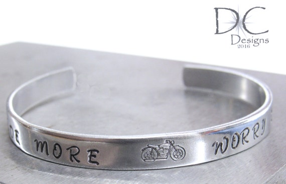 motorcycle gifts custom bracelet personalized cuff bracelet etsy