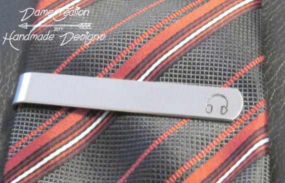 Custom Tie Clip Personalized Music Gift