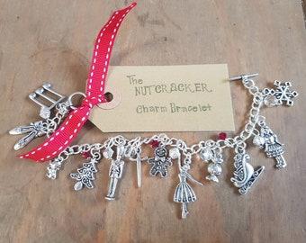 Nutcracker charm bracelet, Nutcracker ballet charm bracelet, Nutcracker bracelet, nutcracker jewellery, ballet gift, Clara nutcracker