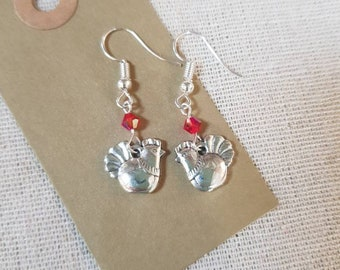 Chicken/Hen Charm Earrings