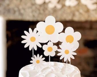 Fabulous Daisy Cake Topper Decoration 70S Inspired Birthday Cake Etsy Funny Birthday Cards Online Alyptdamsfinfo