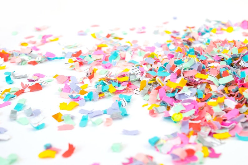 Birthday Parties and Baby Showers \u2013 Photo Prop Tropical Party Confetti Mix \u2013 Pastel Rainbow Confetti for Beach Weddings