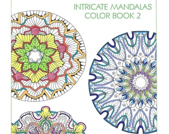 Intricate Mandalas Color Book 2