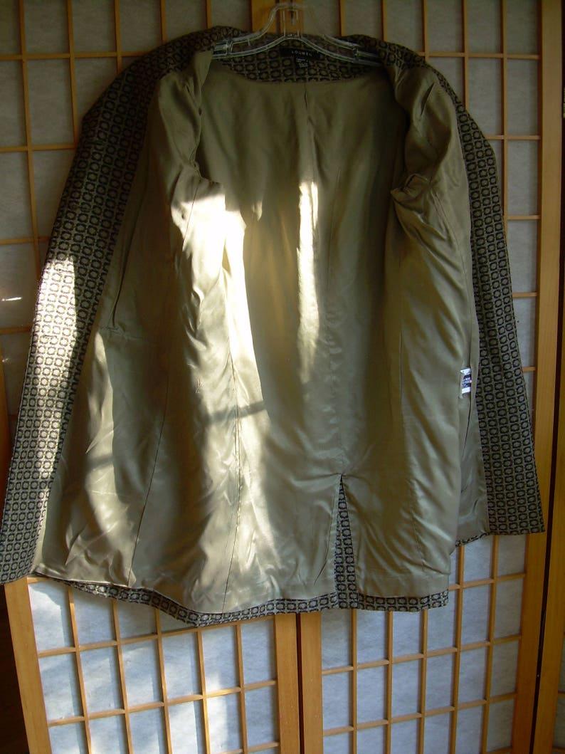 Louben Women/'s 1970s WOOL COAT BROWN beige weave Excellent pre-owned condition. Canada older size 8