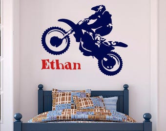 Dirt bike wall decor Etsy