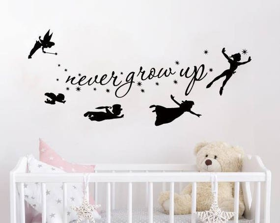Peter Pan Wall Decal Quote Never Grow Up Quotes Decals