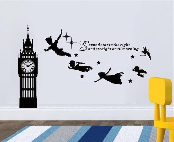 Big Ben Clock Wall Decal Peter Pan Wall Decal Quotesecond Star