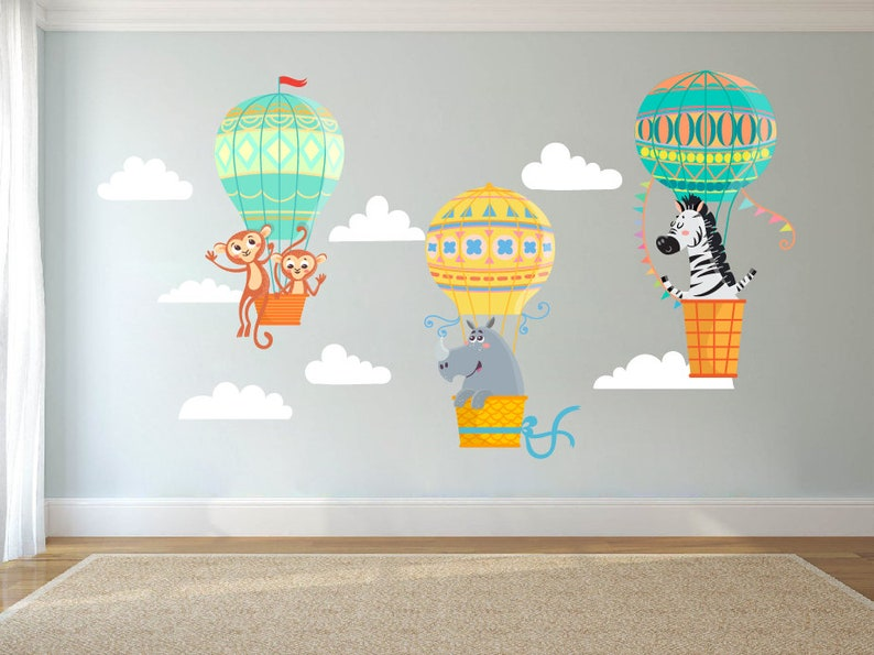 Sunny Wall Stickers Custom Name Aircrafts Cloud Kids Baby Vinyl Decal Decor Nursery Wall Décor Nursery Décor