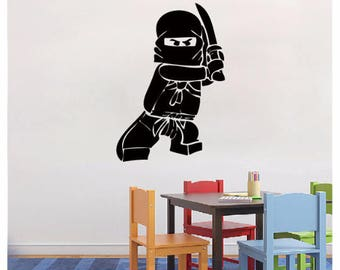 Lego Wall Decal Ninjago Lego Decal   Vinyl Wall Decal Sticker For Boy Room  Decals