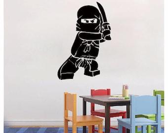 Lego Wall Decal Ninjago Lego Decal   Vinyl Wall Decal Sticker For Boy Room  Decals