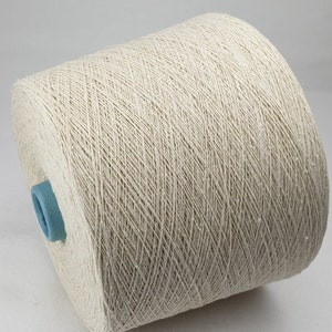 1 spool 1 kg 100 bourette silk yarn nature Nm 61 on paper cone 1500 den