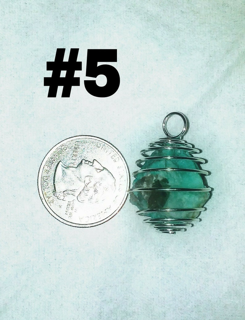 Caged Amazonite crystal pendant