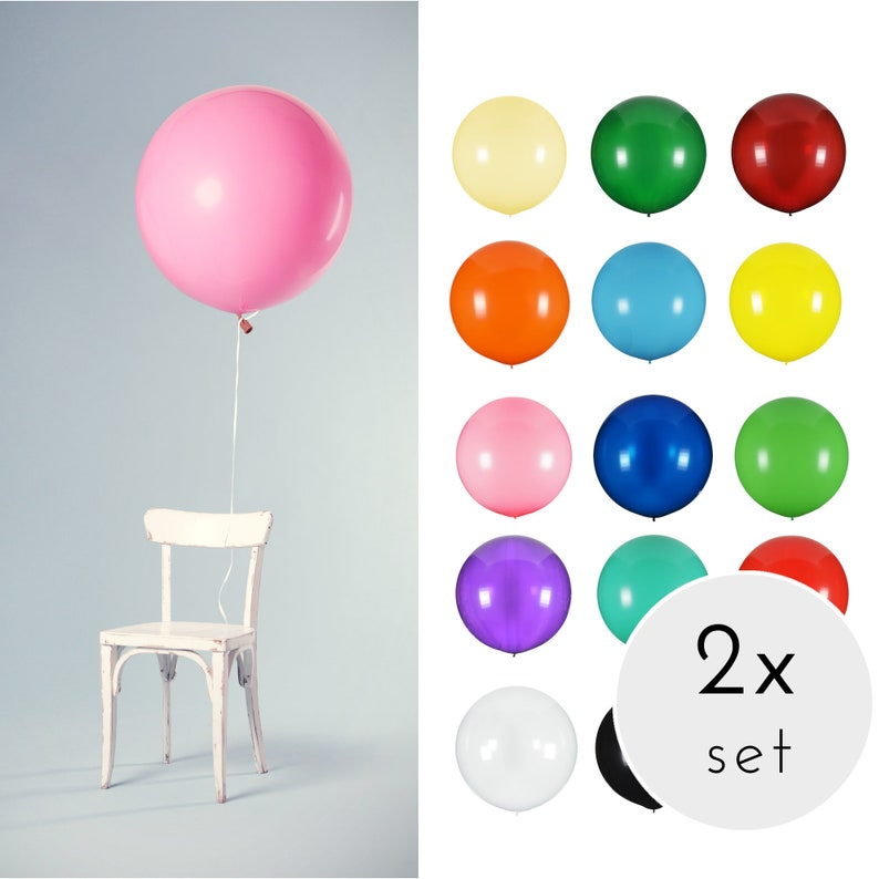 Set of 2 XXL Balloons made of Natural Rubber 100 cm Wedding Balloon Huge Balloon XXL Balloon Giant Balloons