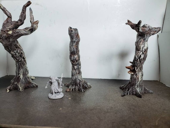 Original Haunted Forest Trees, 1 of Each, 28mm scale, Fantasy Terrain,  Dungeons & Dragons, RPG, Pathfinder, Dungeon Terrain, Warhammer