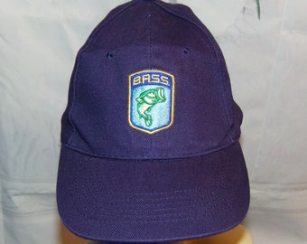 1ee22115e01 Bass Hat Bass Embroidered Bass Fishing Hat From the 1990 s Vintage Find Low    Fast Shipping