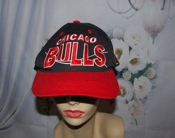 5a1afee047a Chicago Bulls NBA Hat Vintage Embroidered Baseball Cap 80 s RARE Hat Low    Fast Shipping