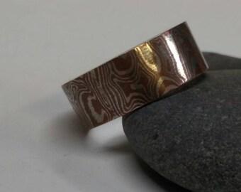 Mokume gane wedding ring...