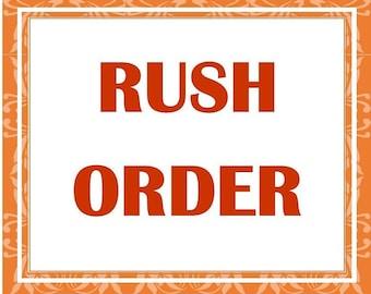 RUSH Shipping and rush production