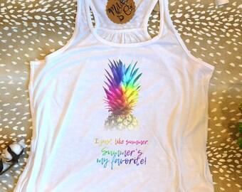 Pineapple Tank Top,Summer Tank Top,Pineapple Tee,Trendy Pineapple T-Shirt,Trendy Pineapple Tee,Trending T-Shirt,Summer T-shirt