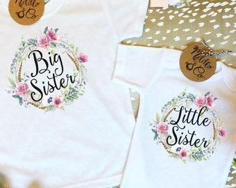 Big Sister Little Sister Set,Sisters Set,Big Sister Gift,Sister Shirts,Big Sister Shirt,Little Sister Bodysuit,Sibling Shirts,Sister Outfits