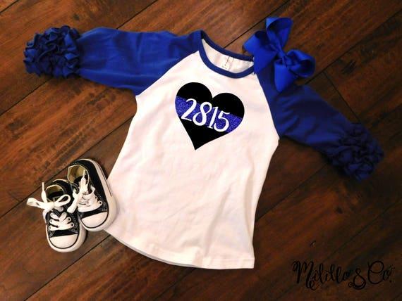 Toddler//Kids Ruffle T-Shirt My Papa in Washington Loves Me