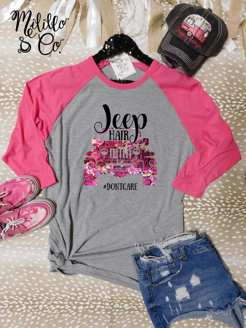 1d53c806 Jeep Hair Don't Care Tshirt Jeep Girl Tee Jeep Life Shirt | Etsy