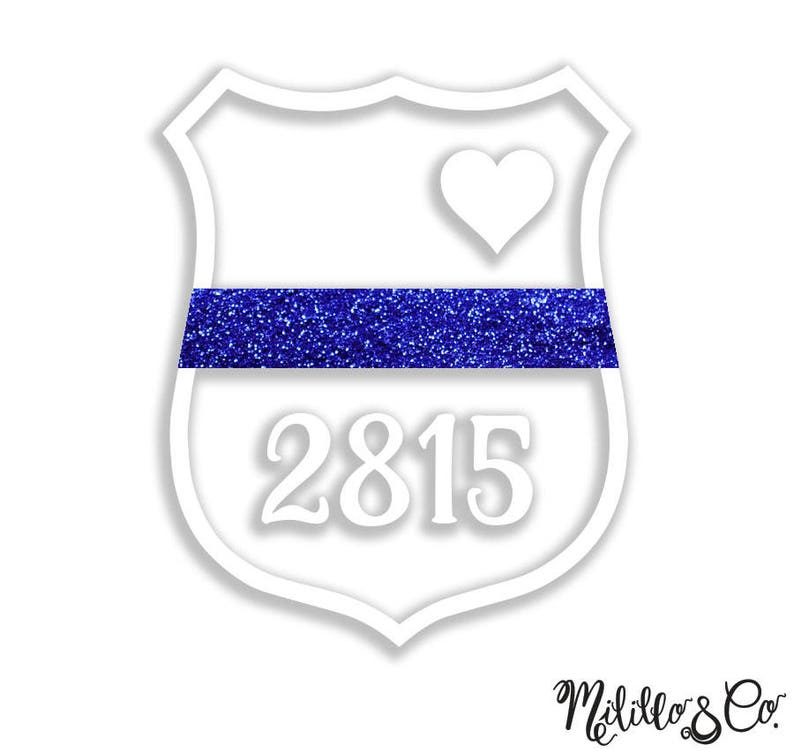 """Thin Blue Line /""""wife/"""" Vehicle Decal"""