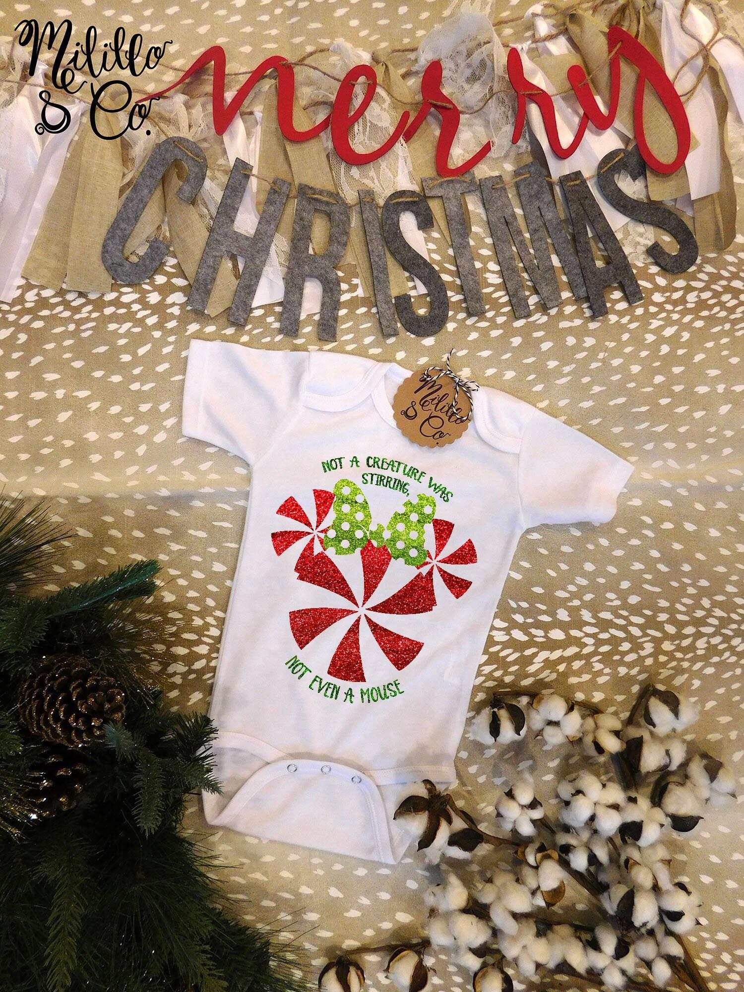 Babies Baby Boys Girls Disney Mickey Mouse Babygrow Xmas Christmas Novelty 3 6 M
