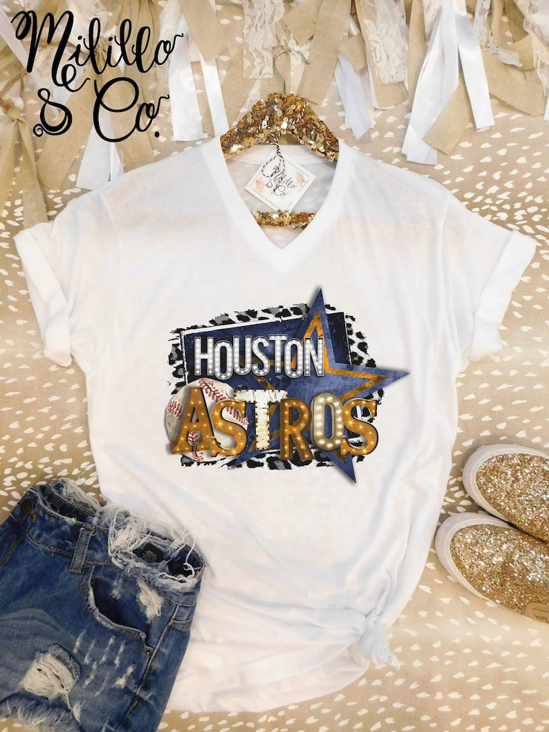 60a84dfb1de Astros T-shirt Baseball Tee Womens Astros Shirt Houston MLB