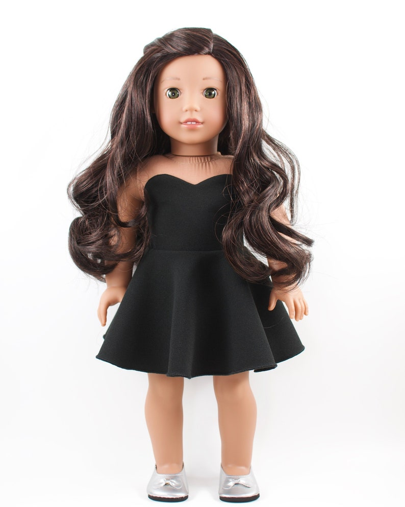 Strapless Black Dress  18 inch doll clothes image 0