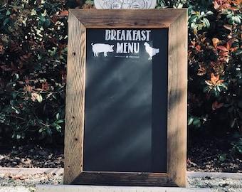 Breakfast Menu - Restaurant Style Chalkboard