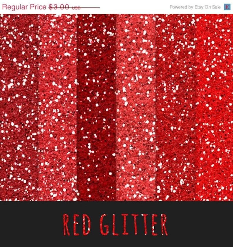 60 Di Sconto Rosso Glitter Glitter Carta Rosso Etsy