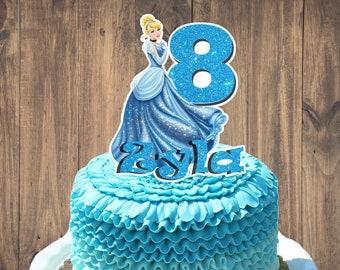 Princess Cinderella Cake Topper PERSONALIZED