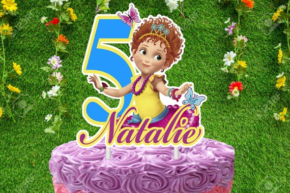 Fine Fancy Nancy 3 Cake Topper Personalized Etsy Funny Birthday Cards Online Barepcheapnameinfo