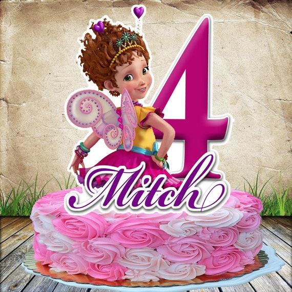 Outstanding Fancy Nancy 2 Cake Topper Personalized Etsy Funny Birthday Cards Online Overcheapnameinfo