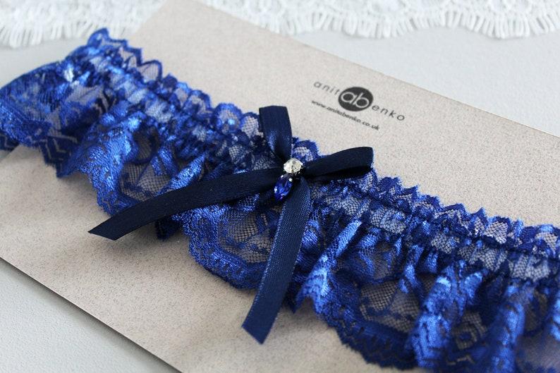 soft lace garter brides garter something blue Wedding garter garter bridal garter