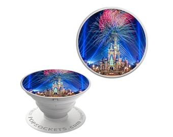 Happily Ever After Castle Decal for Popsocket | Castle Sticker | Pop Socket NOT INCLUDED | Available on Glitter or Glow in the Dark Vinyl