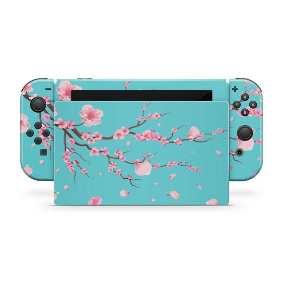 Nintendo Switch Skin // Cherry Blossom Decal for Joy-Con Gaming Controller Console & Dock