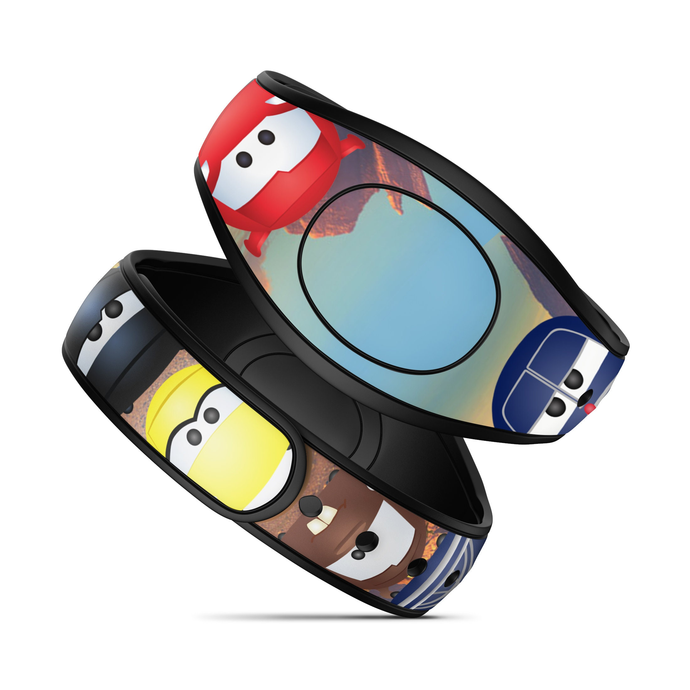 RTS Ready To Ship Best Day Ever Castle Design for MagicBand 2.0 Magic Band 2 Decals MagicBand Wrap Glitter Waterproof MagicBand Skin