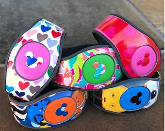 Magic Band 2 Decal, Surprise Mix of Overstock Ready to Ship Magic Band 2 Decals on Sale, RTS Disney Magic Band Wrap, MagicBand 2 Custom Skin