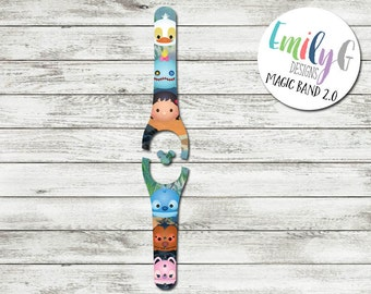 Stitch Tsum Tsum Inspired Disney Magic Band 1.0 or 2.0 Decal or Skin | Adult and Child Size Waterproof MagicBand Wrap | RTS Ready To Ship