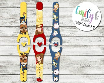 Beast and Friends Magic Band Decal 2 | MagicBand Decal 1 or 2 | Disney MagicBand 2 Decal | RTS Ready To Ship