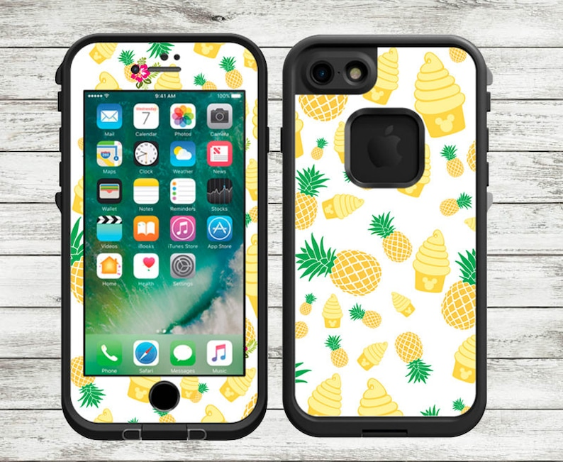 outlet store bb646 9b71e Dole Whip LifeProof Decal | Pineapples LifeProof Skin | iPhone X, iPhone 8,  iPhone 8 Plus, iPhone 7, iPhone 7 Plus, iPhone 6 Plus, iPhone 6