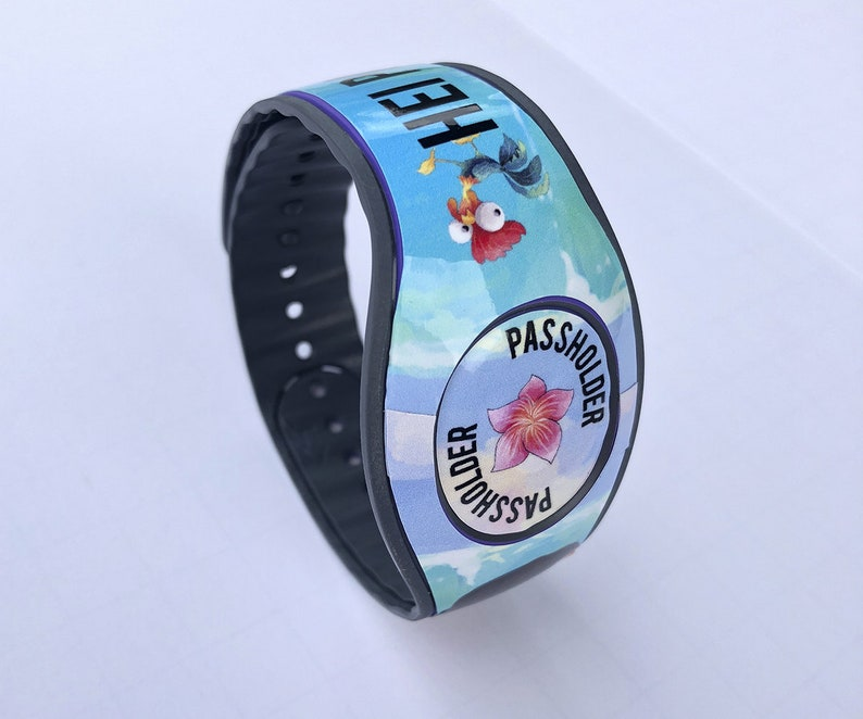 Available with Glitter or Glow in the Dark RTS Ready To Ship Hei Passholder Polynesian Princess Magic Band 2 Decal Annual Passholder
